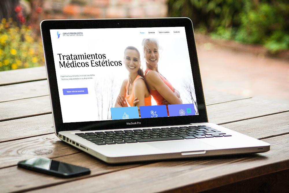 Mantenimiento de página web y hosting para la web de Clínica de medicina estética