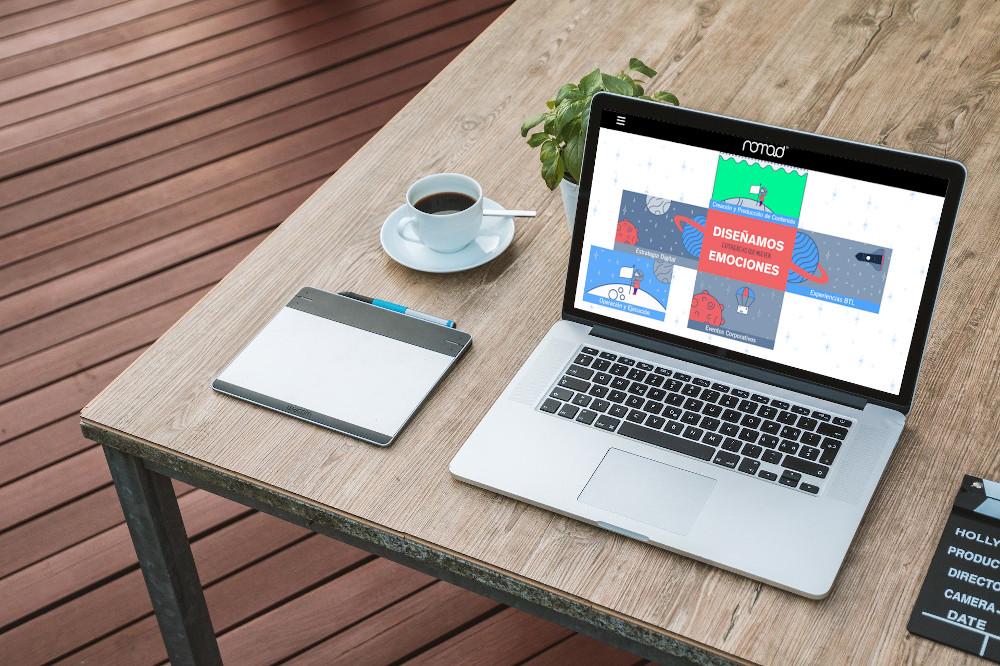 Página web corporativa para Nomad Estudio